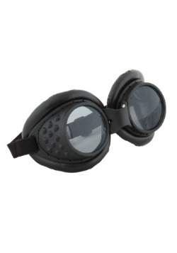 Radioactive Aviator Black Goggles