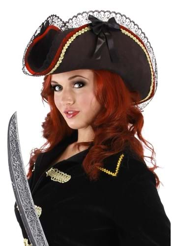 Click Here to buy Lady Buccaneer Black Hat from HalloweenCostumes, USA Funds & Shipping