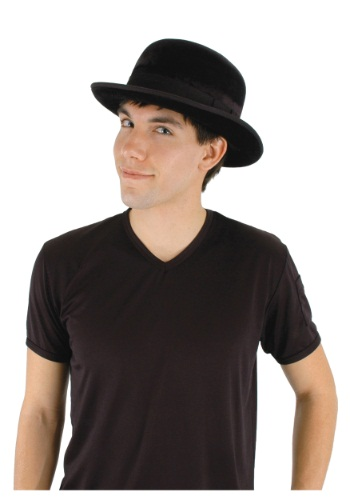 Black Velour Bowler Hat By: Elope for the 2015 Costume season.