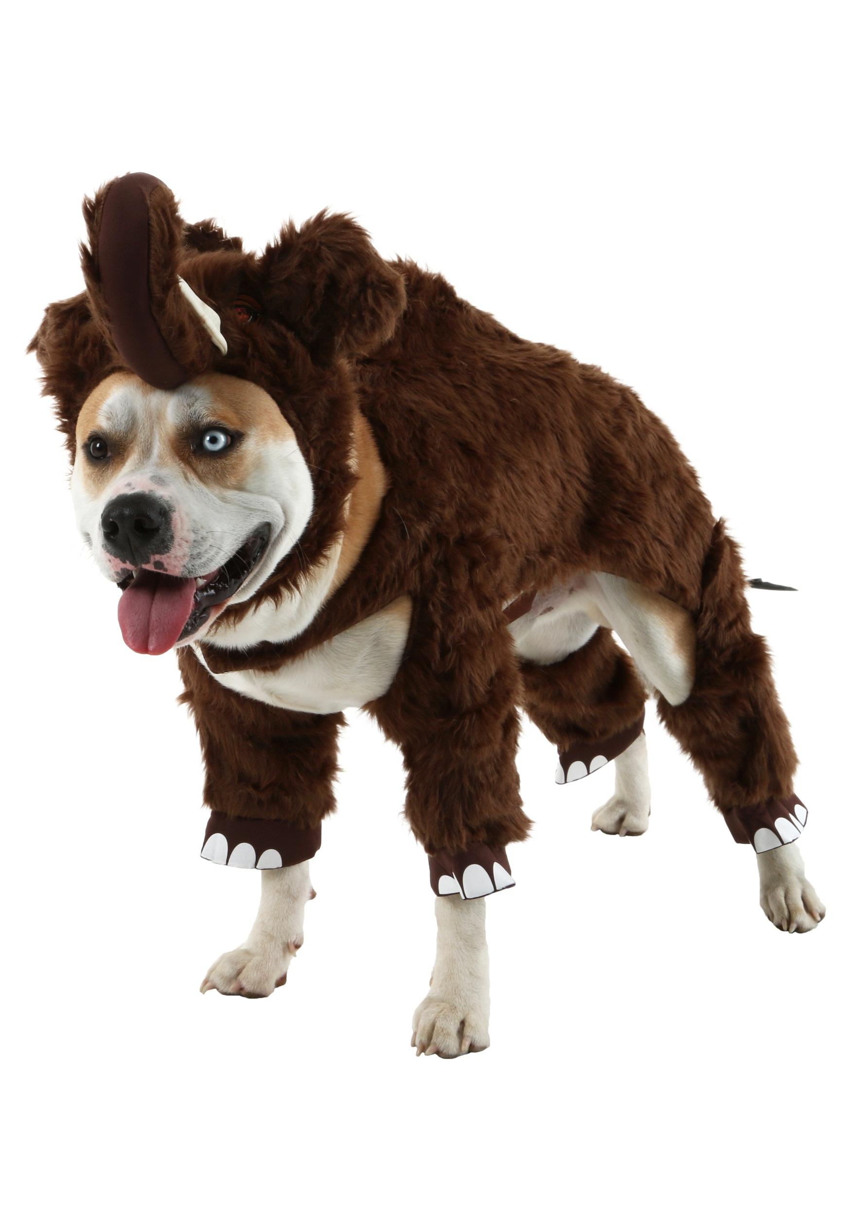 Dog Skeleton Costume Large
