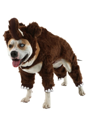 Click Here to buy Woolly Mammoth Pet Costume - Funny Costumes for Dogs from HalloweenCostumes, USA Funds & Shipping