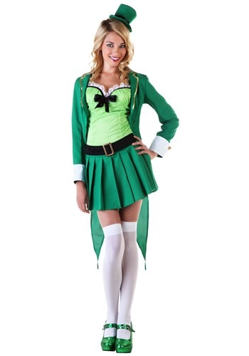 Click Here to buy Womens Lucky Leprechaun Costume from HalloweenCostumes, CDN Funds