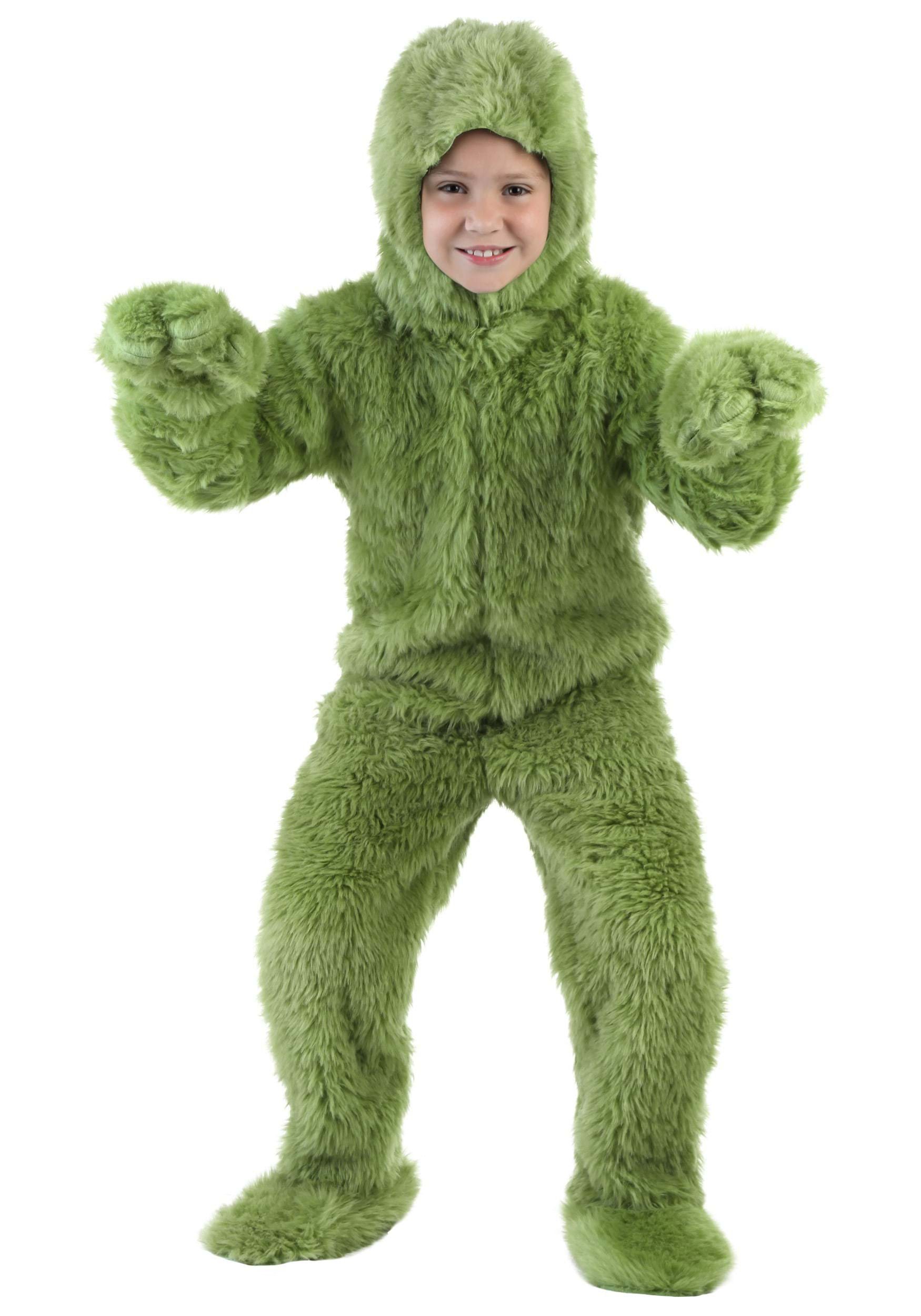 sc 1 st  Halloween Costumes & Child Green Furry Jumpsuit
