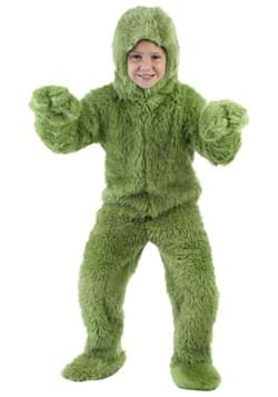 Kids Green Furry Jumpsuit Costume Upd