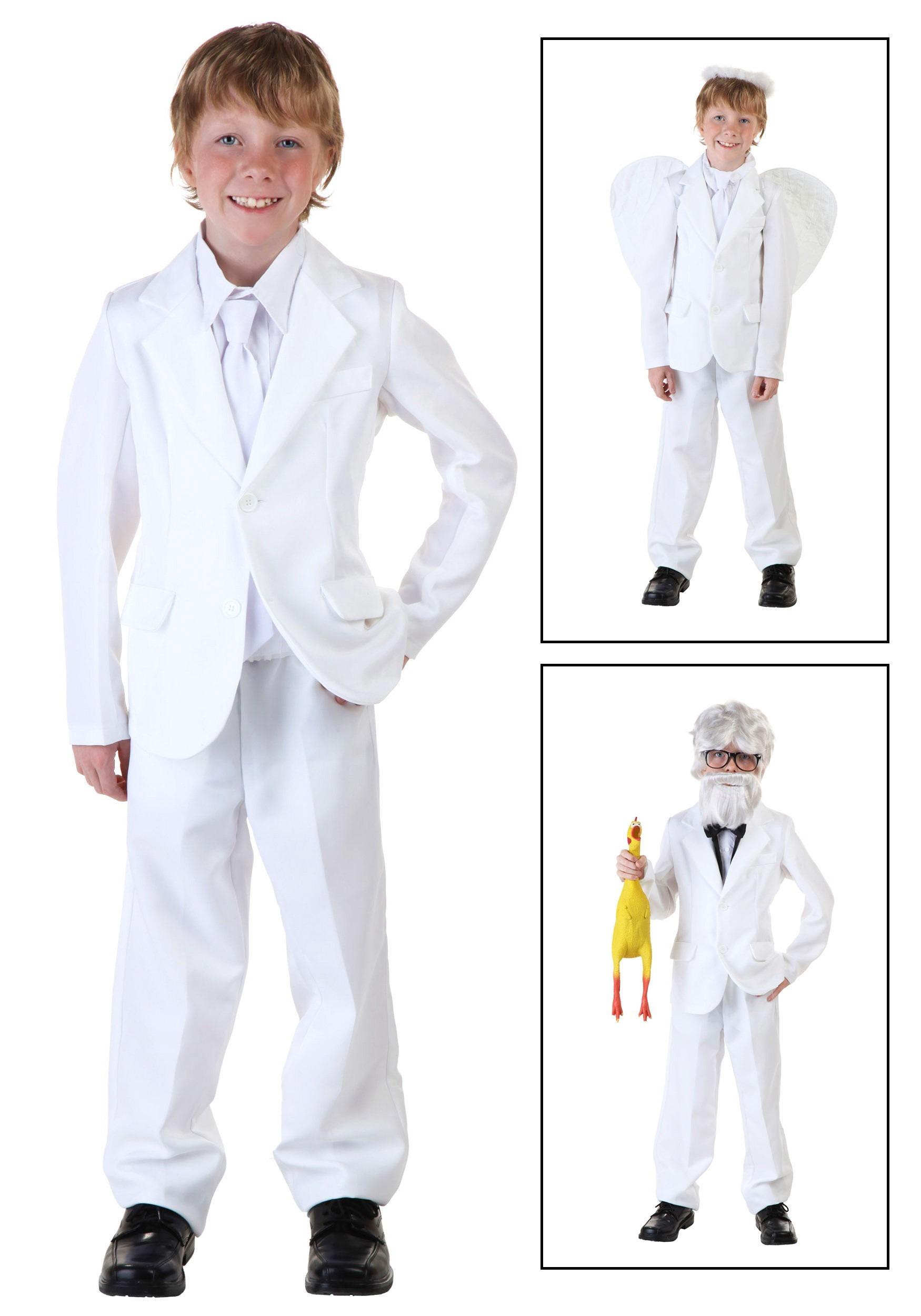 child white suit costume - Kids Angel Halloween Costume