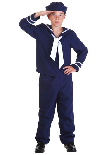 Click Here to buy Kids Blue Sailor Costume from HalloweenCostumes, USA Funds & Shipping