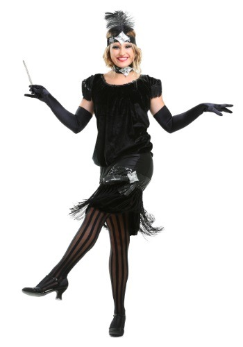 Click Here to buy Deluxe Velvet Flapper Costume from HalloweenCostumes, CDN Funds