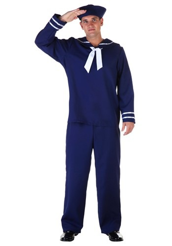 Click Here to buy Plus Size Blue Sailor Costume from HalloweenCostumes, USA Funds & Shipping