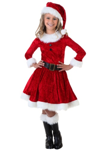 Click Here to buy Girl Mrs. Claus Costume from HalloweenCostumes, USA Funds & Shipping