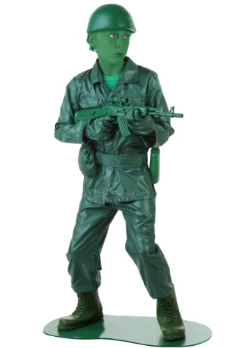 Click Here to buy Kids Green Army Man Costume from HalloweenCostumes, USA Funds & Shipping