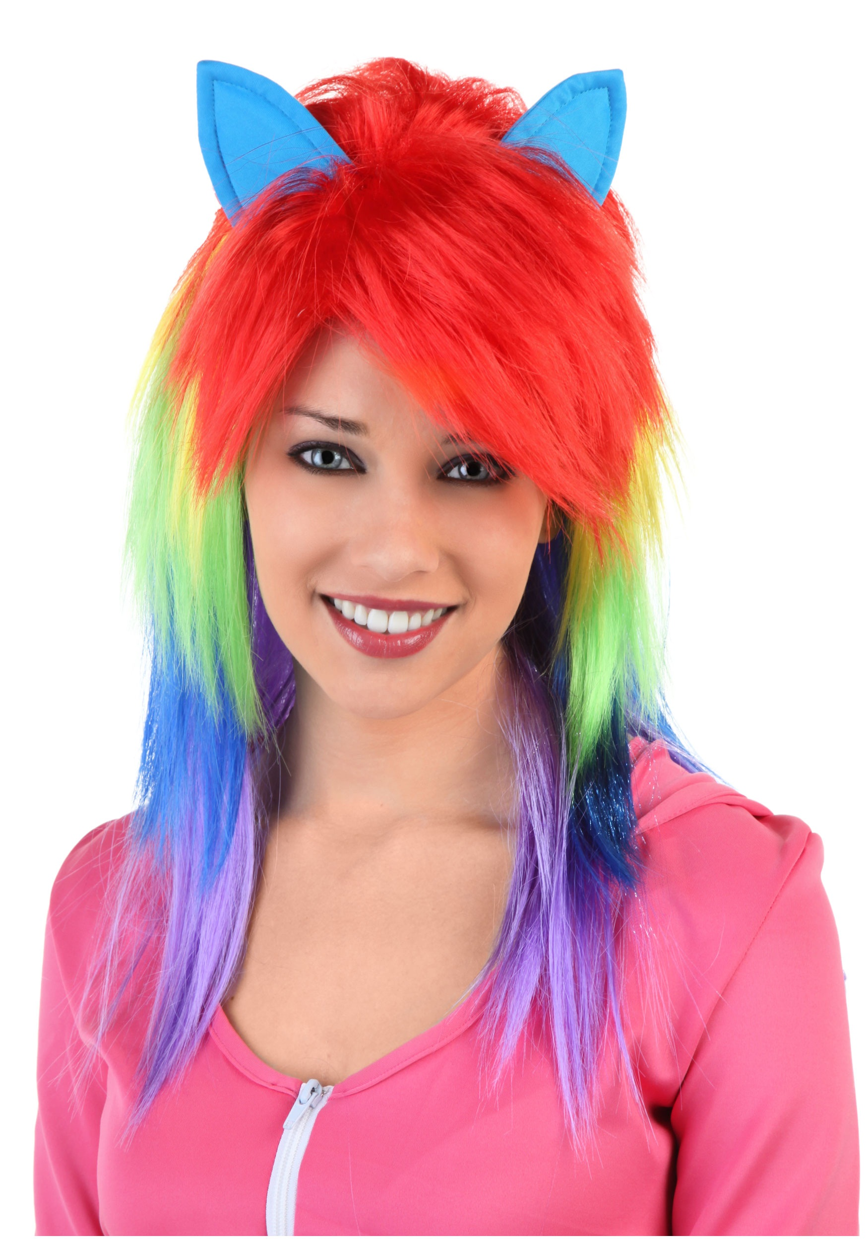 Cute teen with dyed hair