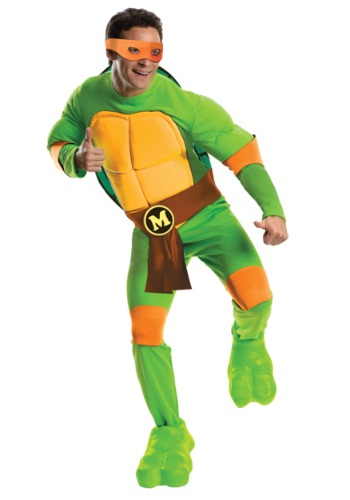 Click Here to buy Deluxe Adult Michelangelo from HalloweenCostumes, USA Funds & Shipping