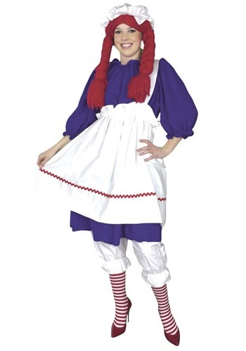 ... storybook character alive with this adult plus size rag doll costume!
