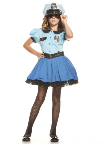 Image of Girls Police Uniform Costume