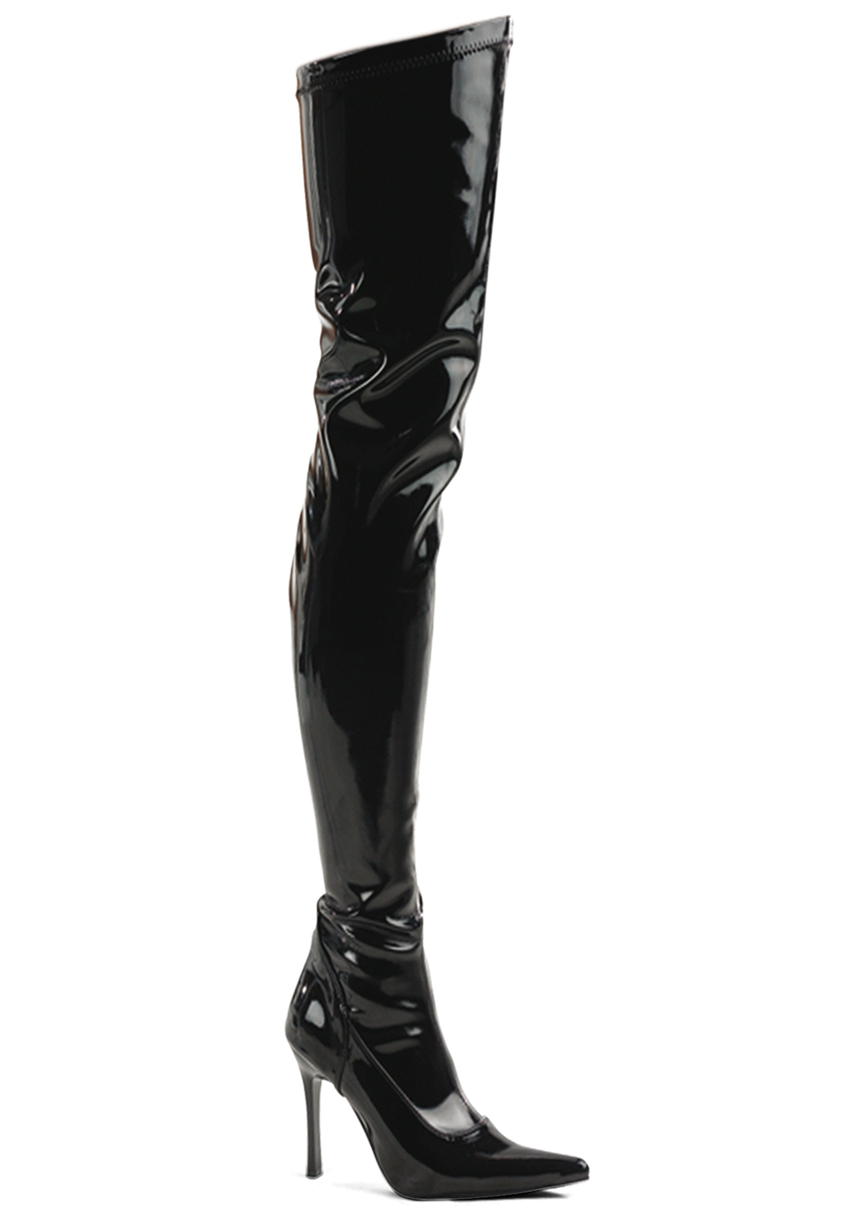 black patent the knee boot