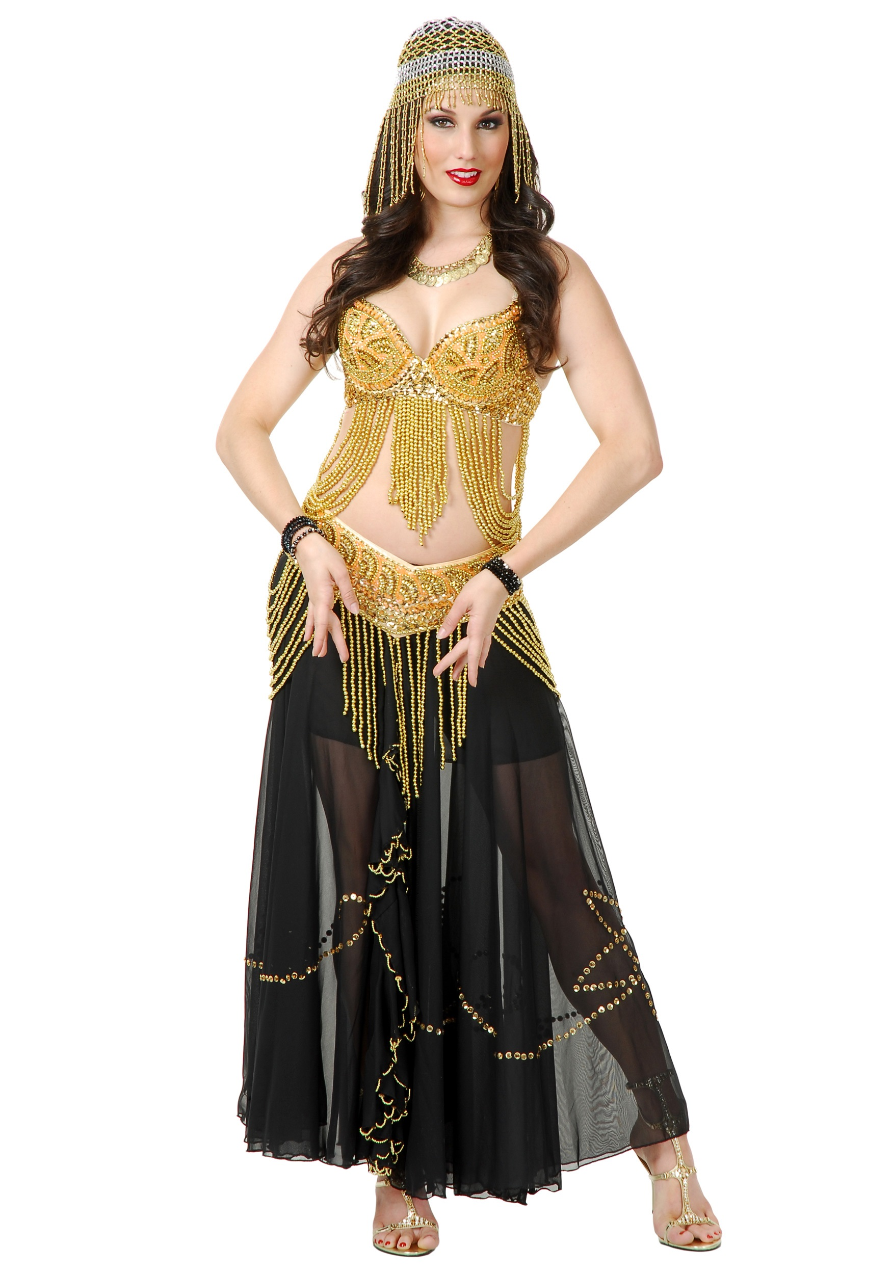 Golden Belly Dancer Costume