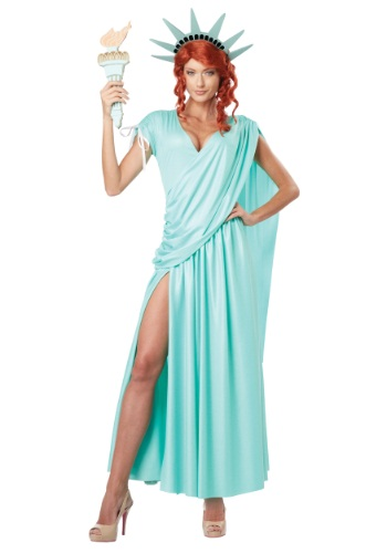 Click Here to buy Lady Liberty Plus Size Costume from HalloweenCostumes, USA Funds & Shipping