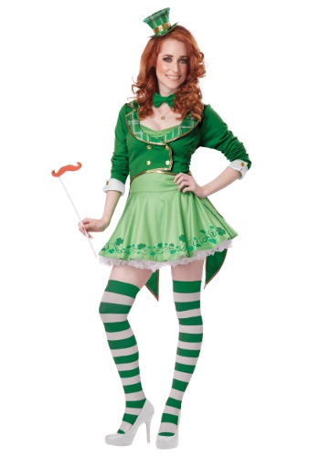 Click Here to buy Lucky Charm Womens Leprechaun Costume from HalloweenCostumes, CDN Funds