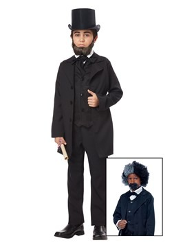 Boys Abraham Lincoln/Frederick Douglass Costume Update Main