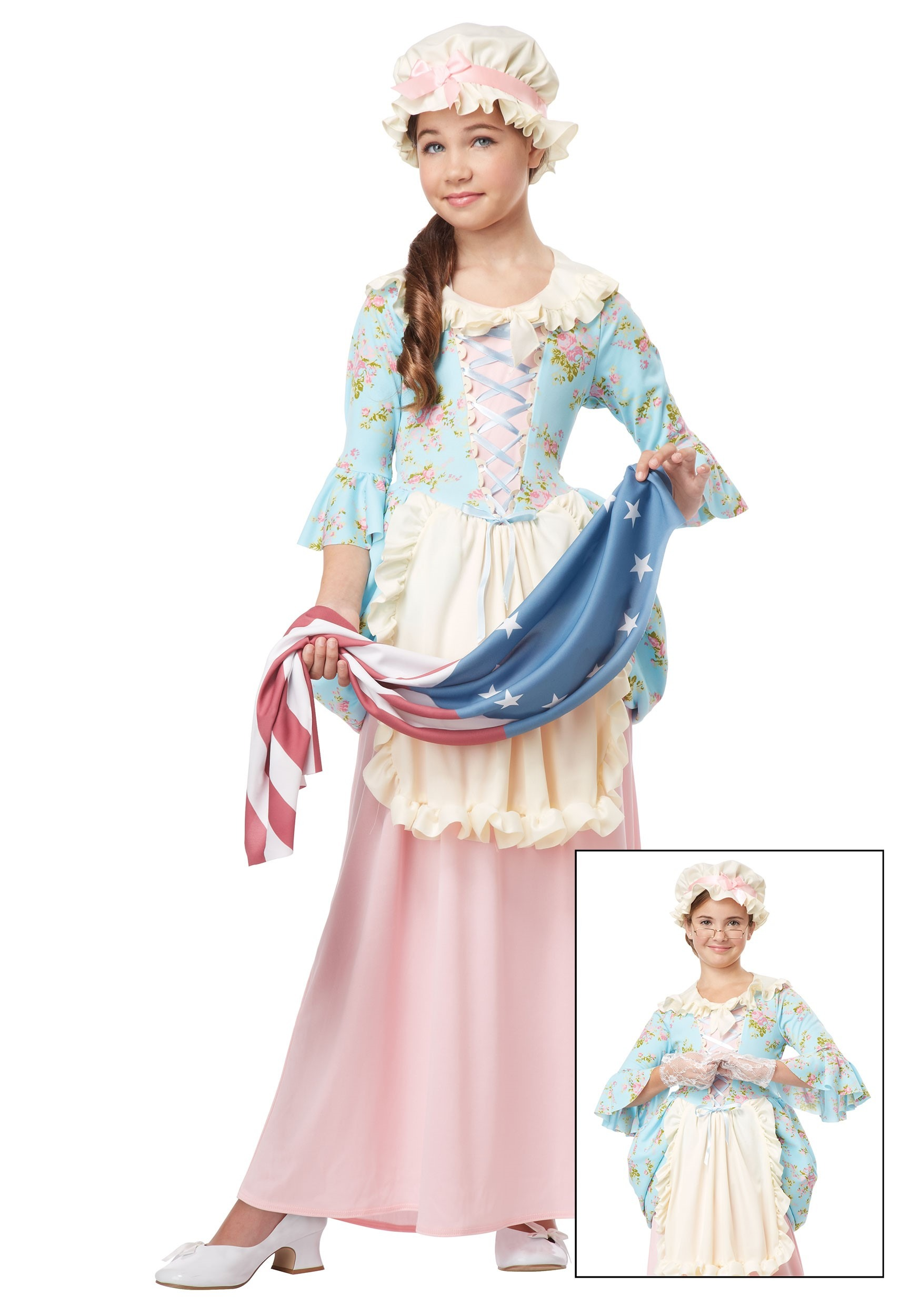 sc 1 st  Halloween Costumes & Girls Colonial Lady Costume