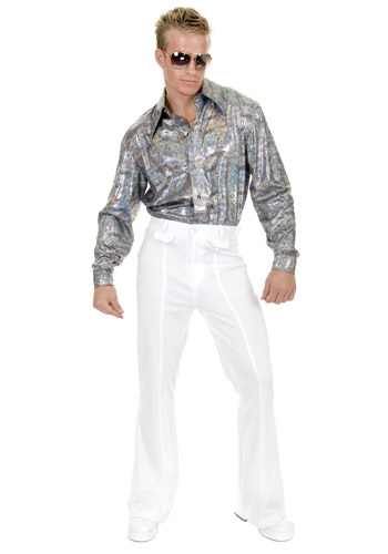 Click Here to buy Plus Size Glitter Disco Shirt from HalloweenCostumes, USA Funds & Shipping