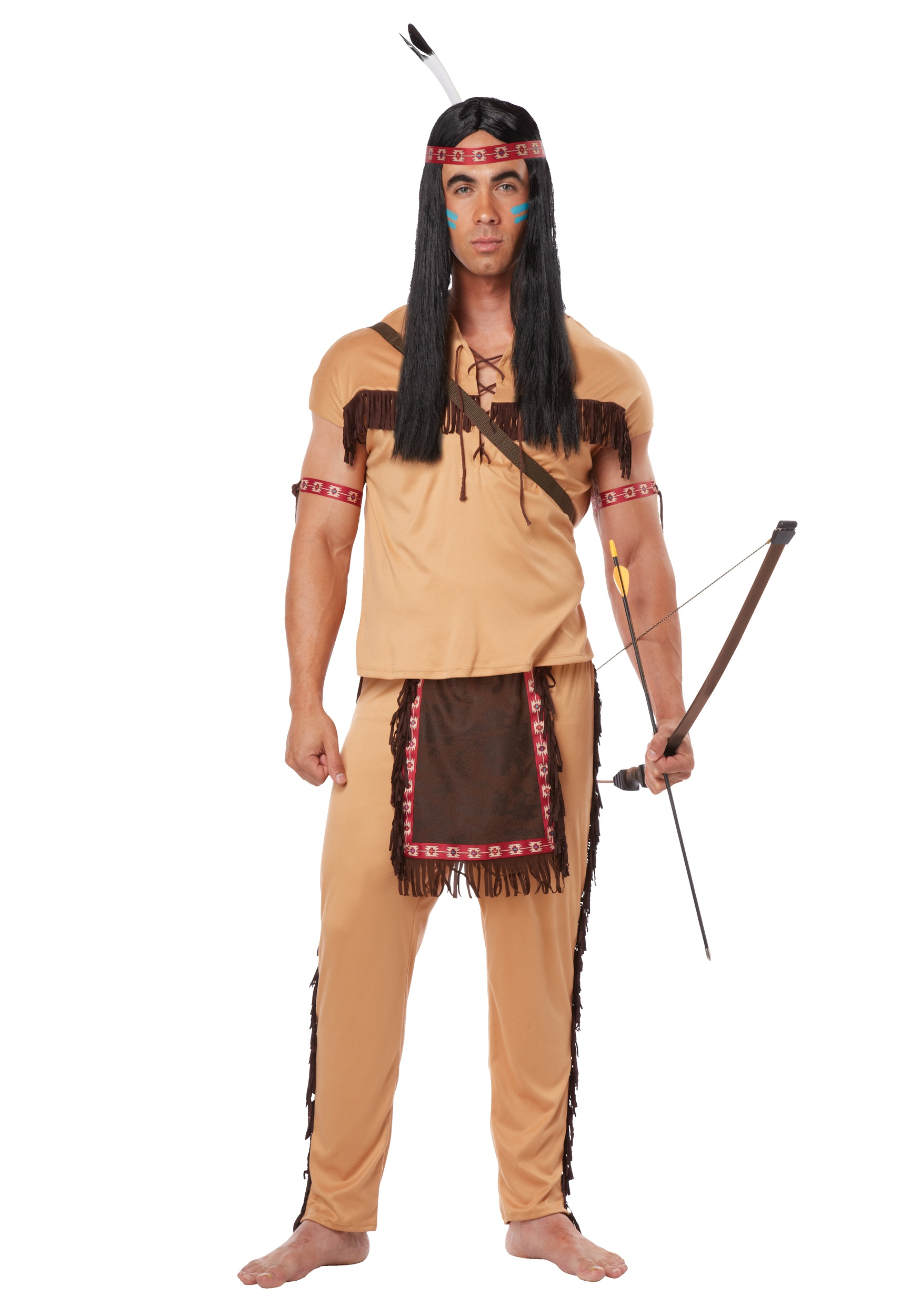 Adult Native American Brave Adult Native American Brave 2  sc 1 st  Halloween Costumes & Native American Brave Costume for Adults