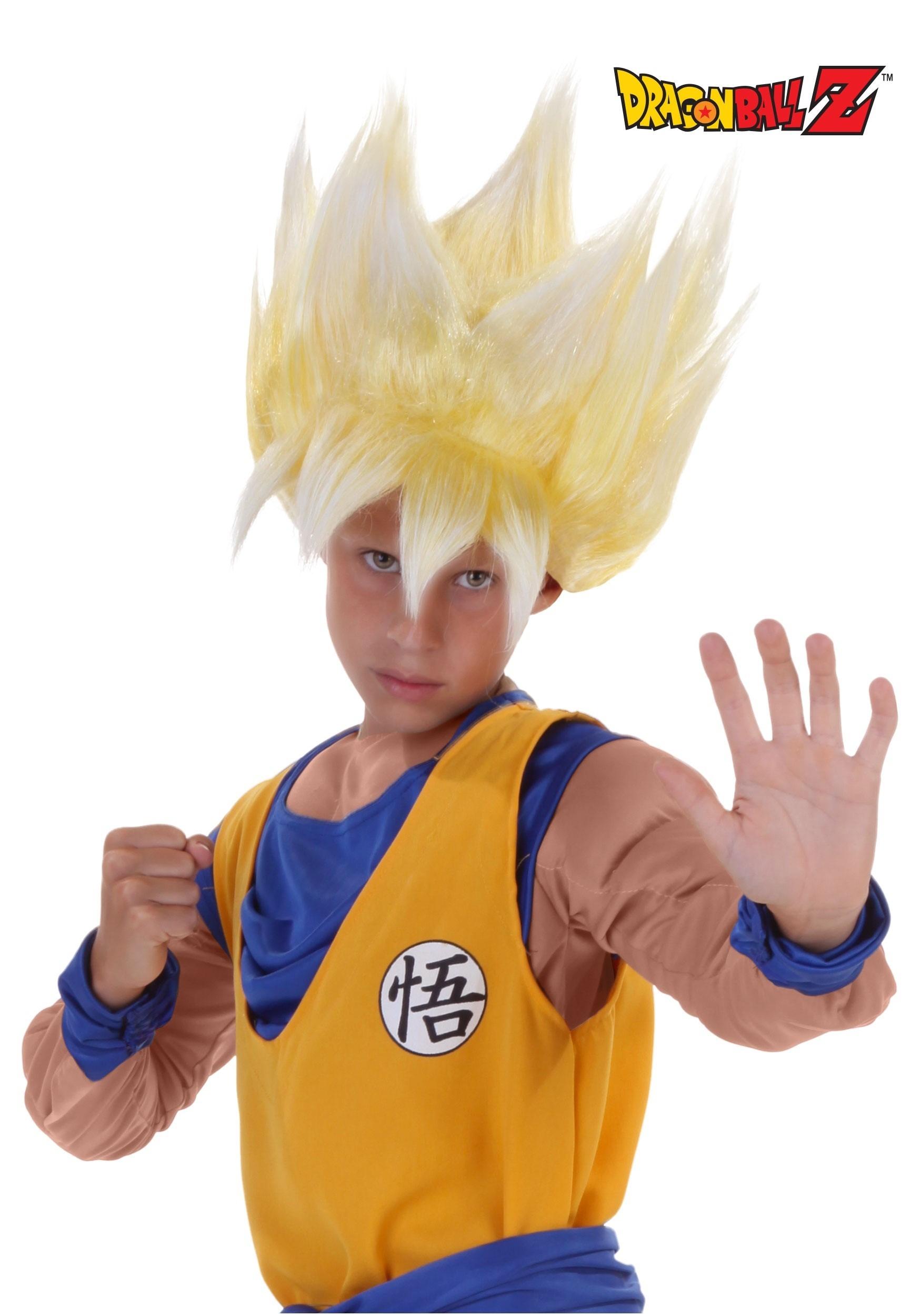 sc 1 st  Halloween Costumes & Child Super Saiyan Goku Wig