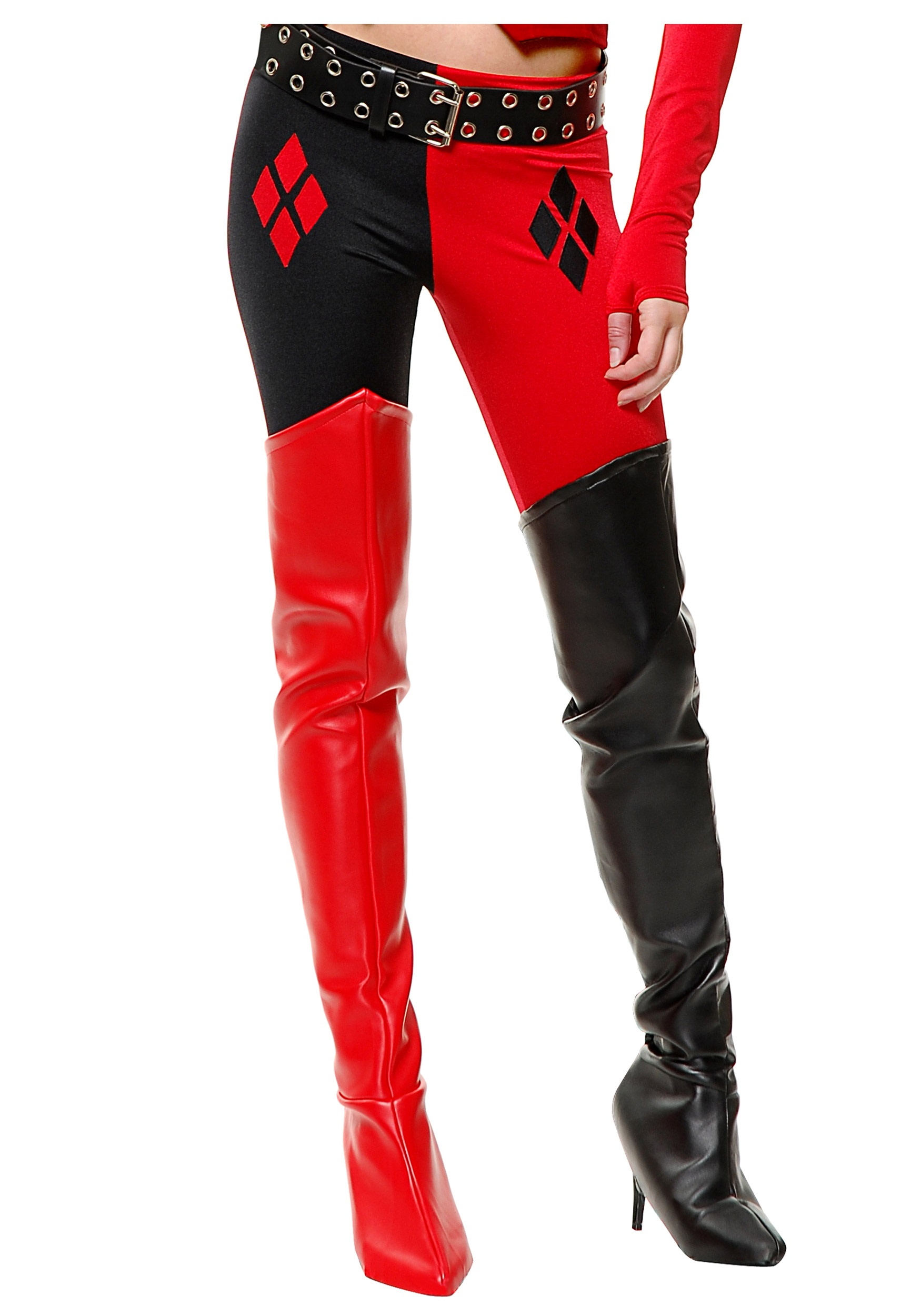 Superhero Boots / Boot Covers - Red, Black Superhero Boots