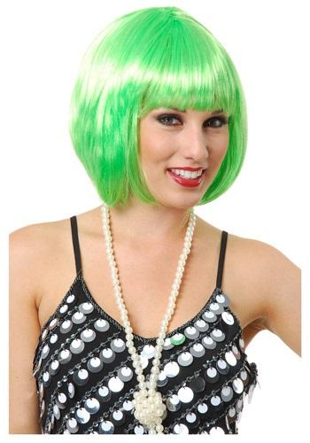 Short Bob Lime Green Wig for Women