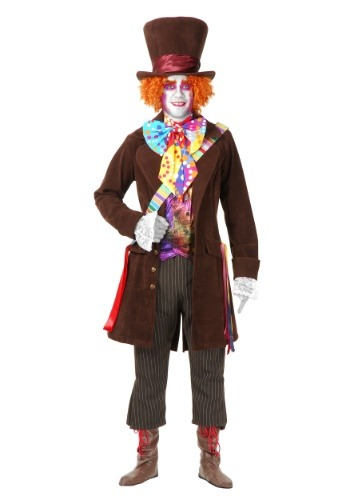 Men's Deluxe Mad Hatter Costume (Men Mad Hatter Costume)