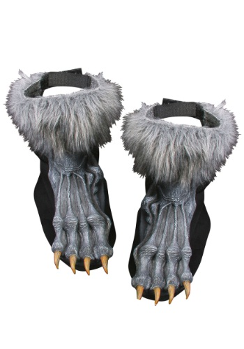 Click Here to buy Silver Werewolf Shoe Covers from HalloweenCostumes, CDN Funds