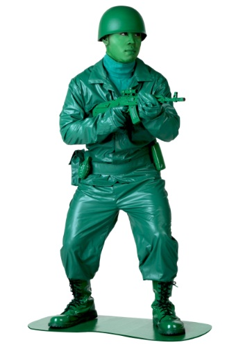 Click Here to buy Plus Size Green Army Man Costume from HalloweenCostumes, USA Funds & Shipping