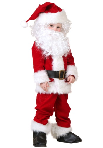 Click Here to buy Toddler Deluxe Santa Costume from HalloweenCostumes, CDN Funds