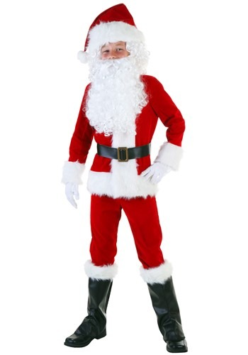 Click Here to buy Kids Deluxe Santa Costume from HalloweenCostumes, USA Funds & Shipping