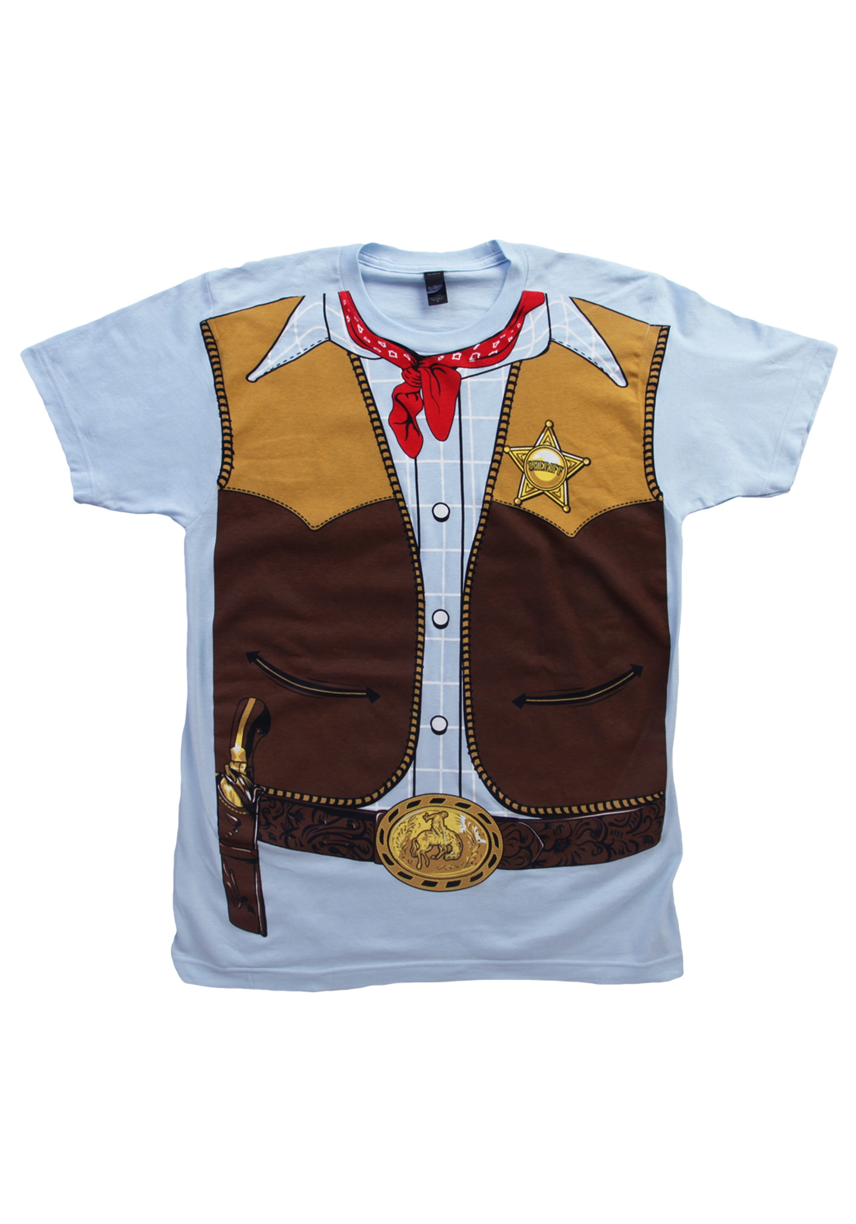 Mens cowboy costume t shirt for Costume t shirts online