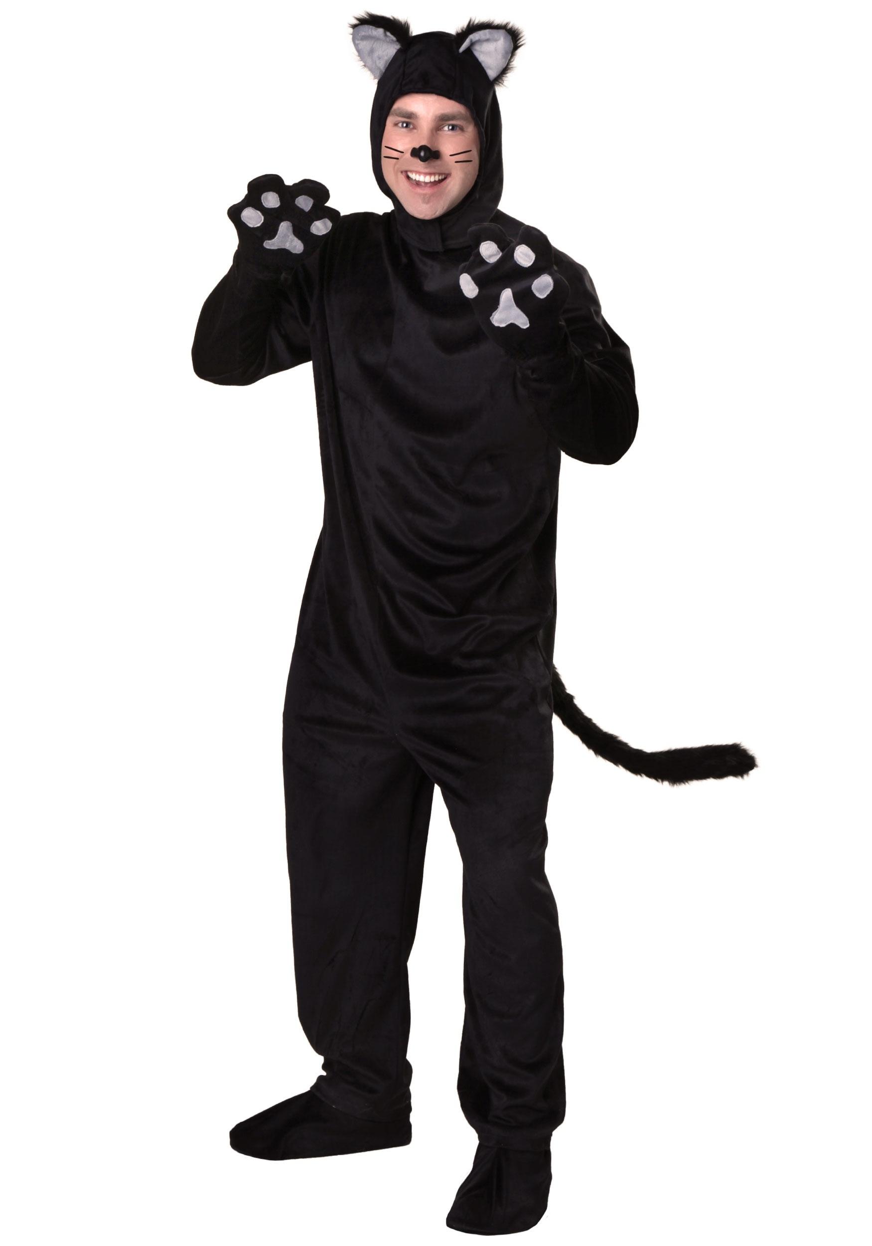 Plus Size Black Cat Costume-6987