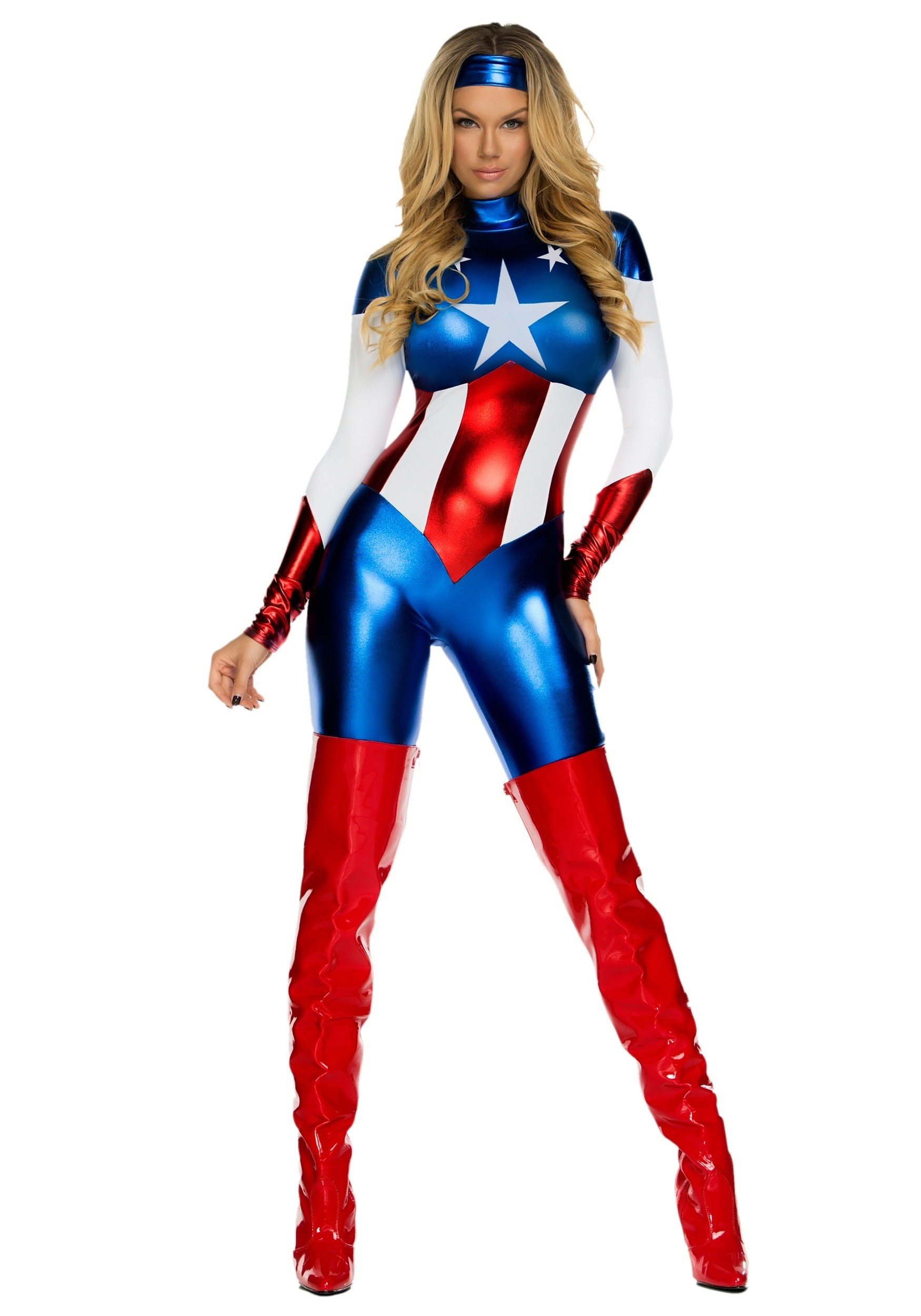 women 39 s american beauty superhero costume. Black Bedroom Furniture Sets. Home Design Ideas
