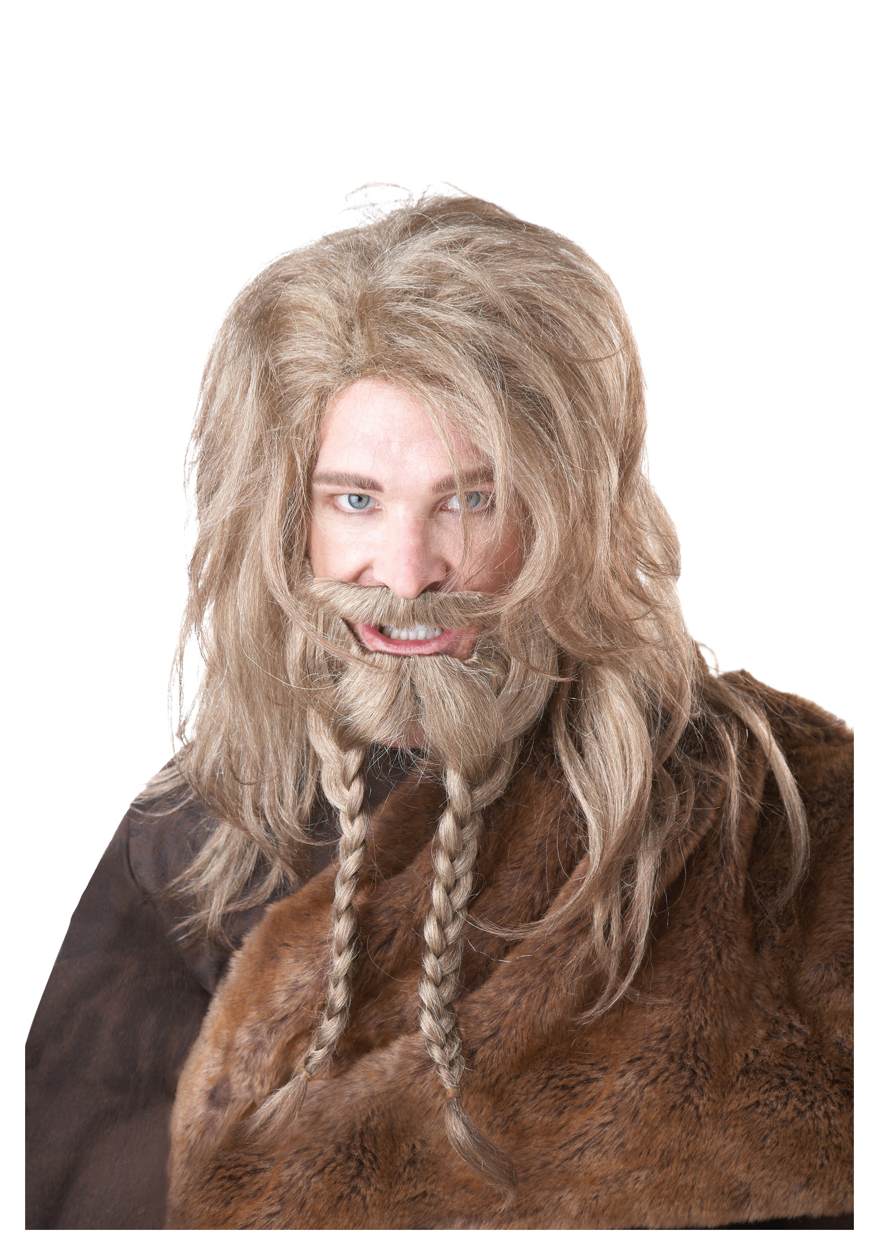 Blonde Viking Wig  Beard and MustacheViking Beard Braid