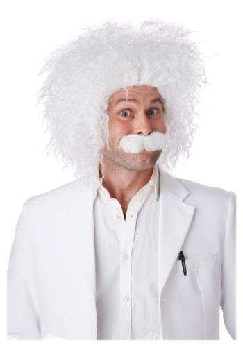 Click Here to buy E=MC2 Wig & Mustache from HalloweenCostumes, CDN Funds