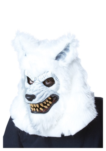 Click Here to buy White Werewolf Ani-Motion Mask from HalloweenCostumes, USA Funds & Shipping