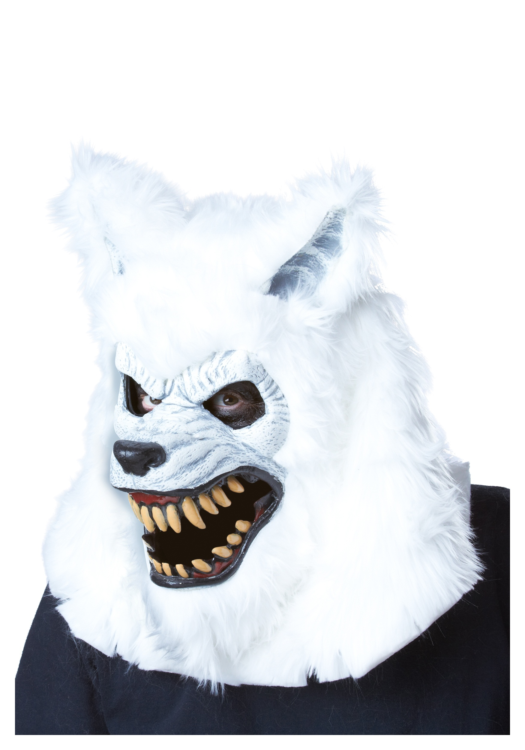 White Werewolf Ani-Motion Mask