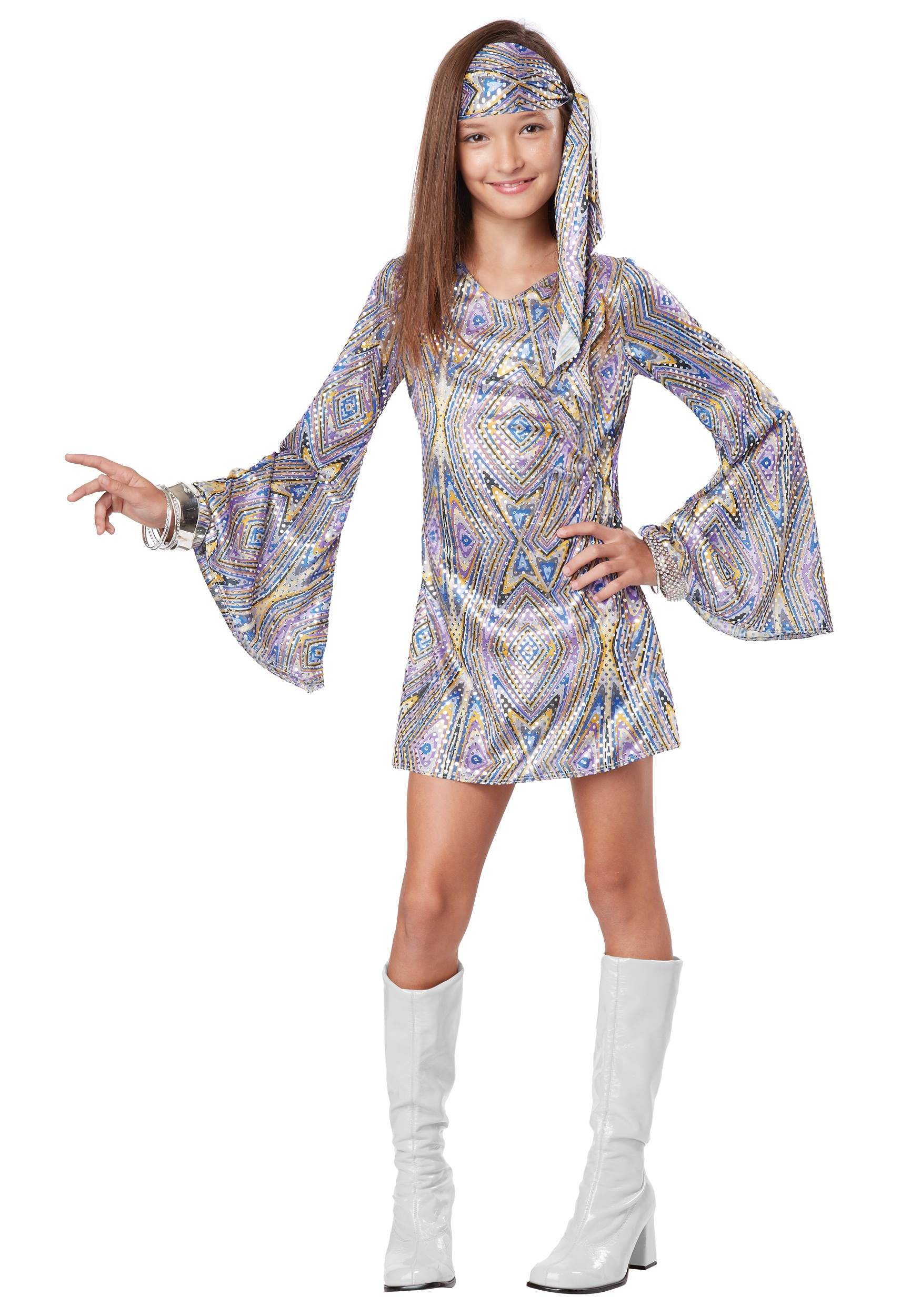70 S Scarves: Child Disco Darling Costume