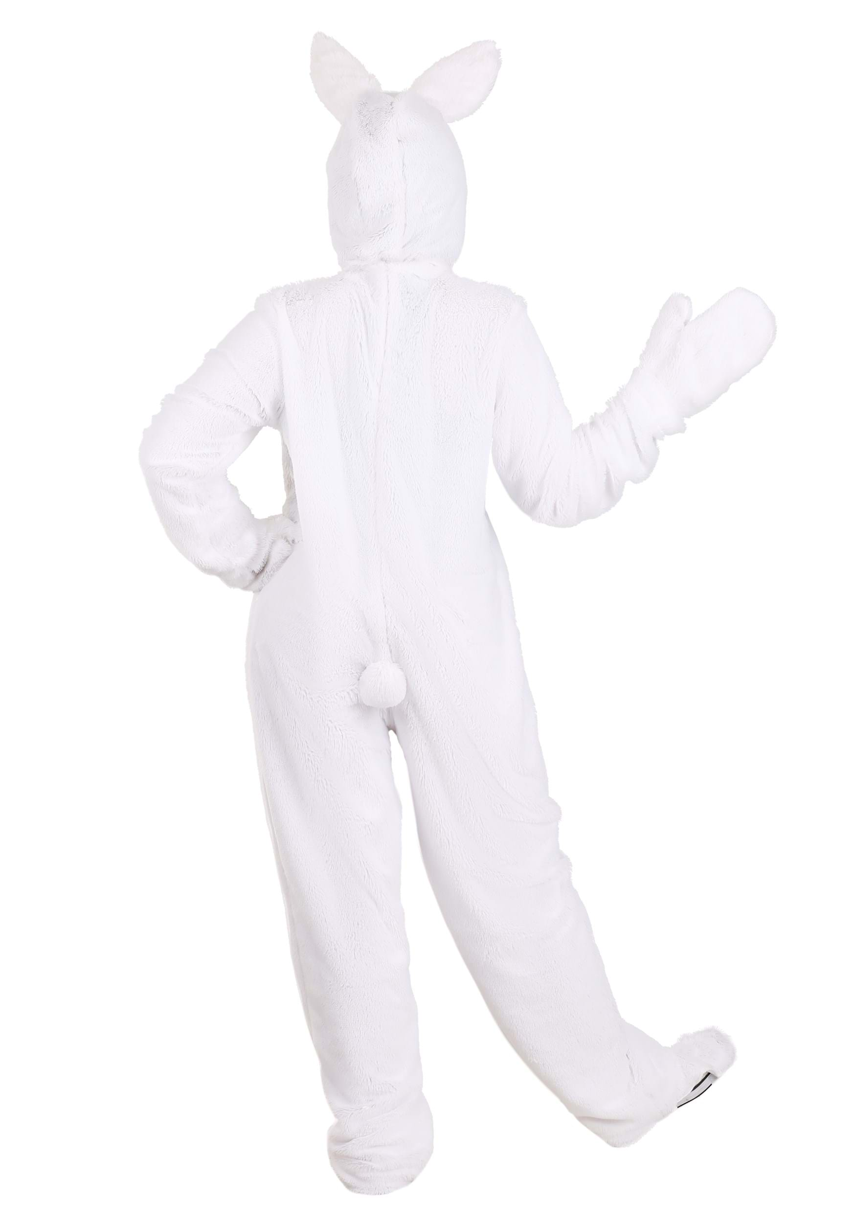 adult white bunny costume alt 1