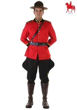 Plus Size Canadian Mountie Costume Logo Update