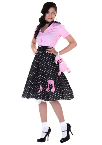 Click Here to buy Plus Size Sock Hop Cutie Costume from HalloweenCostumes, USA Funds & Shipping