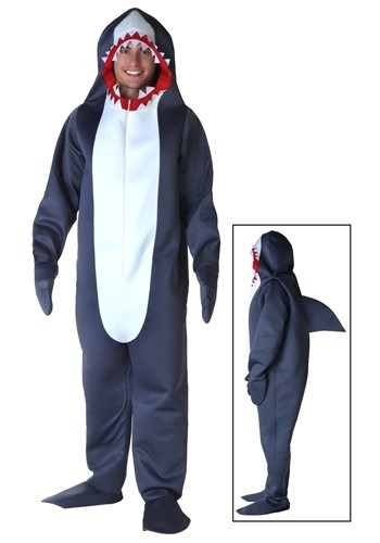Click Here to buy Plus Size Shark Costume 2X from HalloweenCostumes, CDN Funds