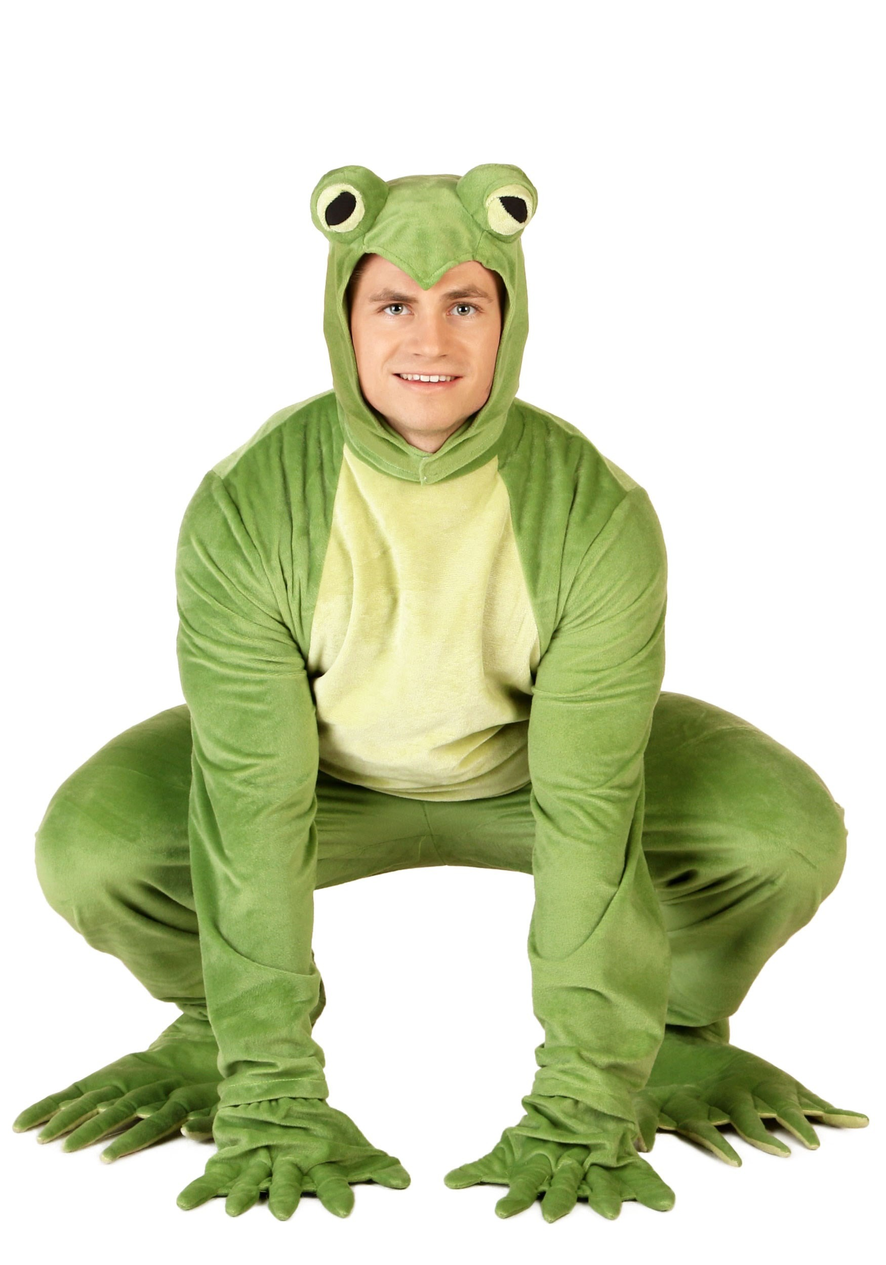 Animals Costumes Adults Adult Deluxe Frog Costume