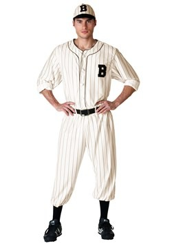 Plus Size Vintage Baseball Player Costume for Men 1