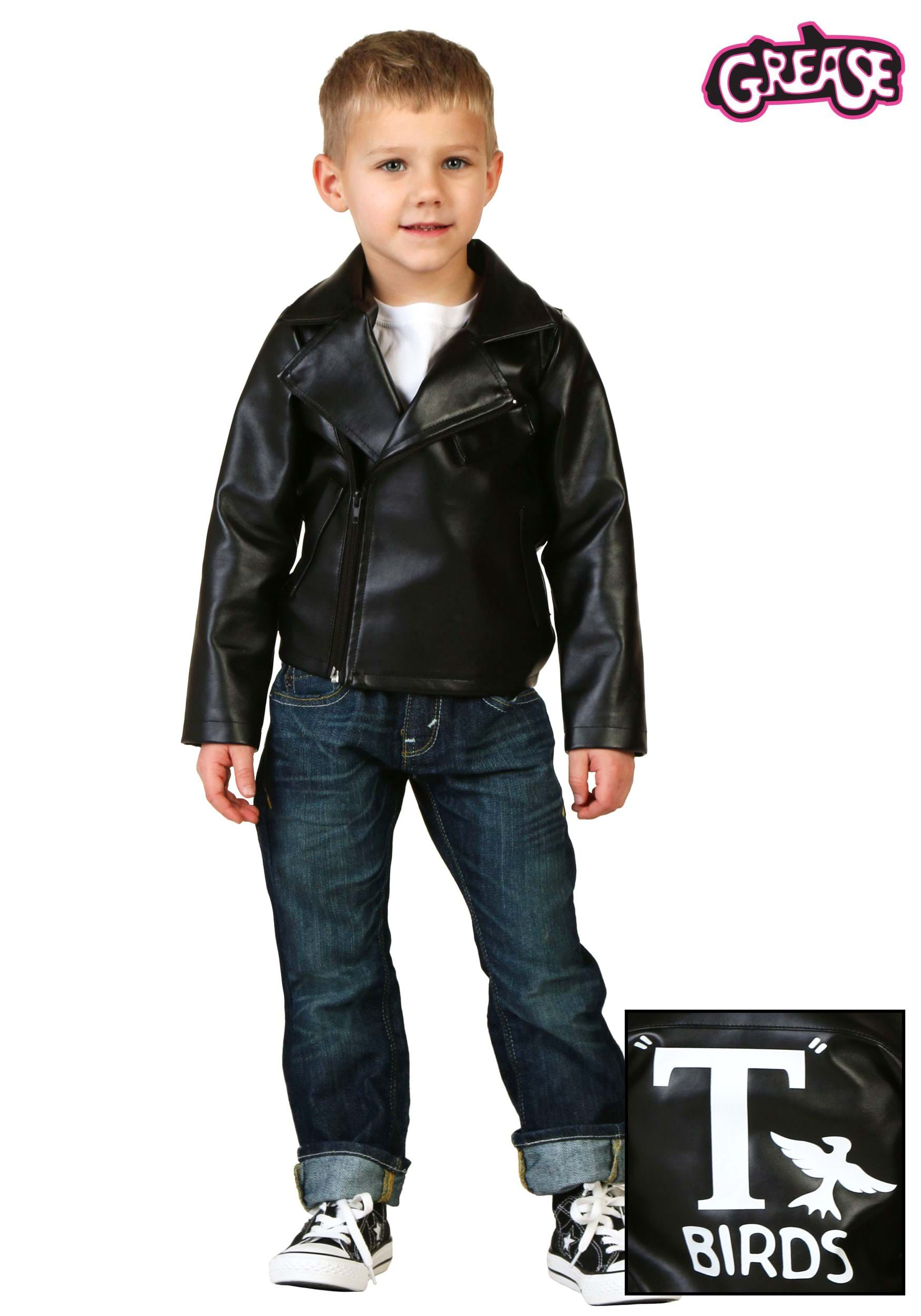 Toddlers leather jackets