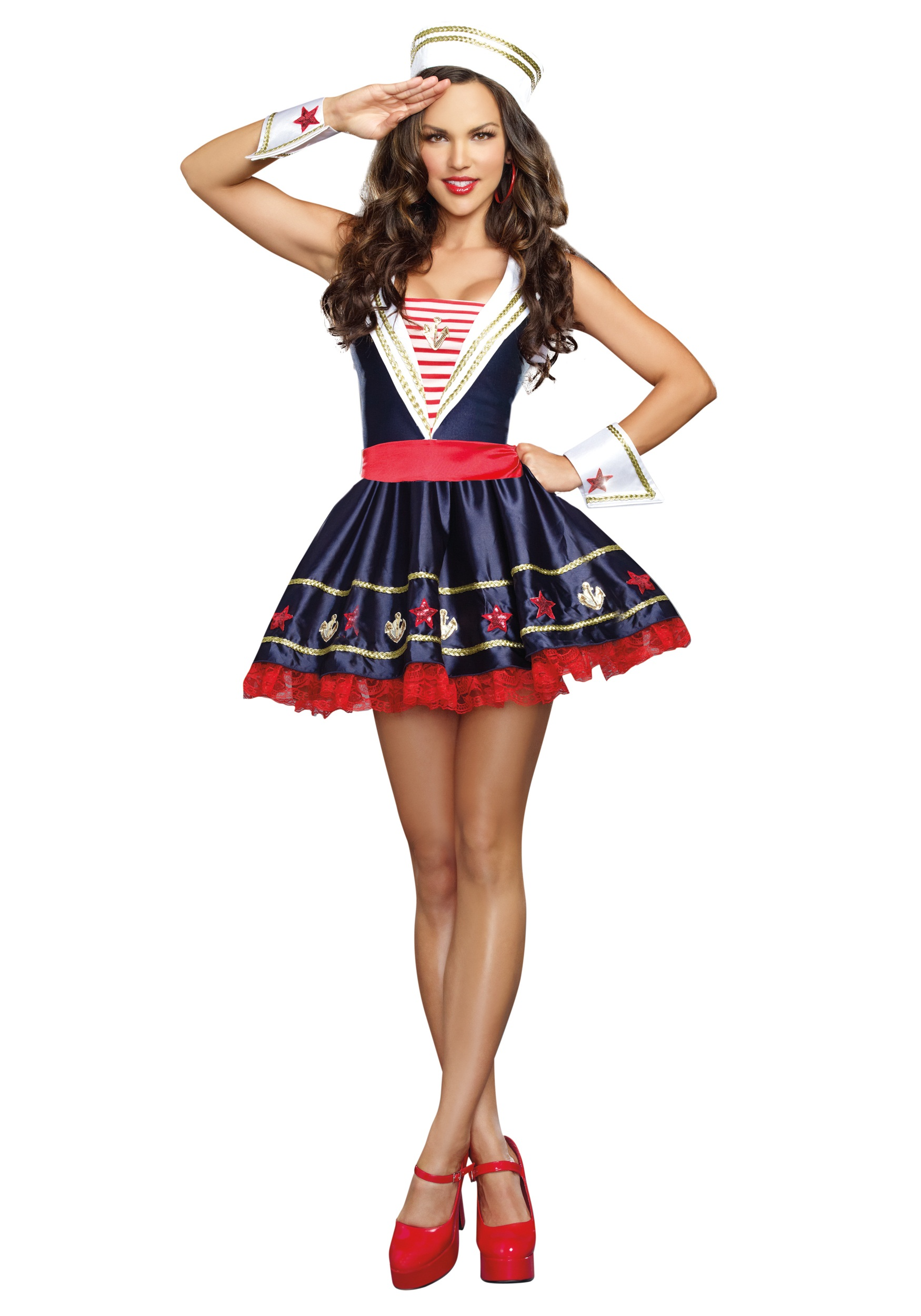 womens shore thing sailor costume - Sailors Halloween Costumes